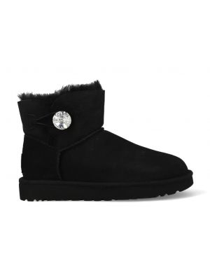 UGG Mini Bailey Button Bling 1016554/BLK Zwart