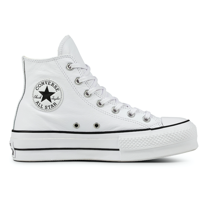 Converse All Stars Hoog Lift Clean Leather 561676C Wit